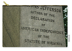 Thomas Jefferson Tombstone Close Up Carry-all Pouch