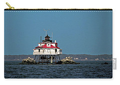 Thomas Point Shoal Light Carry-all Pouch by Sally Weigand
