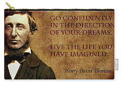 Thoreau Quote 1 Carry-all Pouch by Andrew Fare
