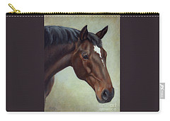 Thoroughbred Horse, Brown Bay Head Portrait Carry-all Pouch