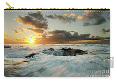 Carry-all Pouch featuring the photograph Thors Well Cape Perpetua 1 by Bob Christopher