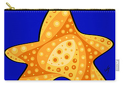 Carry-all Pouch featuring the painting Thoughts And Colors Series Starfish by Veronica Minozzi