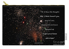 Carry-all Pouch featuring the photograph Thoughts Of Peace by Debby Pueschel