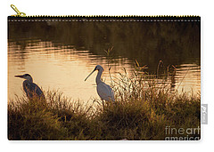 Carry-all Pouch featuring the photograph Thoughts On Sunset by Arik Baltinester