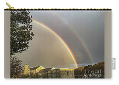Carry-all Pouch featuring the photograph Thread City Double Rainbow  by Michael Hughes