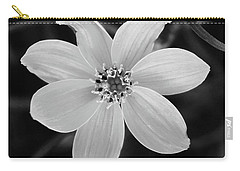 Threadleaf In Black And White Carry-all Pouch
