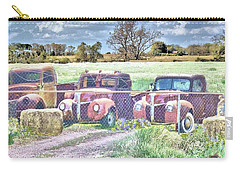 Three 1940 Ford Pickups For Sale Carry-all Pouch by Janette Boyd