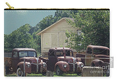Carry-all Pouch featuring the photograph Three 1940 Ford Pickups by Janette Boyd