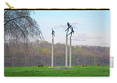 Carry-all Pouch featuring the photograph Three Angels In Spring - Kelly Drive Philadelphia by Bill Cannon