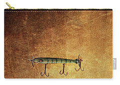 Three Antique Fishing Lure Carry-all Pouch