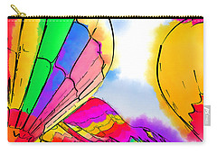 Carry-all Pouch featuring the digital art Three Balloons by Kirt Tisdale