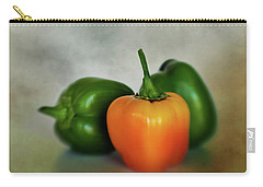 Carry-all Pouch featuring the photograph Three Bell Peppers by David and Carol Kelly