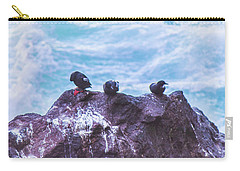 Carry-all Pouch featuring the photograph Three Birds by Jonny D