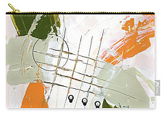 Carry-all Pouch featuring the painting Three Color Palette Orange 3 by Michal Mitak Mahgerefteh