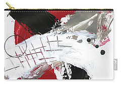 Carry-all Pouch featuring the painting Three Color Palette Red 2 by Michal Mitak Mahgerefteh