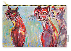 Three Cool Cats Carry-all Pouch