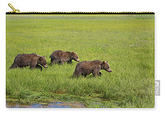 Three Cubs Moving On Carry-all Pouch