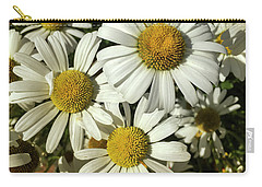 Three Daisies Carry-all Pouch by Garry McMichael