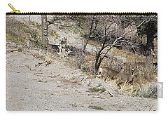 Dry Mountain Slope With Three Deer Carry-all Pouch