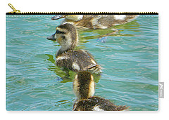 Three Ducklings Swimming Carry-all Pouch