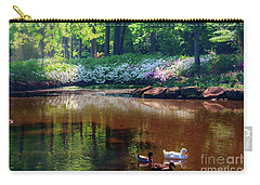 Three Ducks At The Azalea Pond Carry-all Pouch by Tamyra Ayles