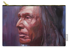 Carry-all Pouch featuring the painting Three Eagles by Steve Henderson