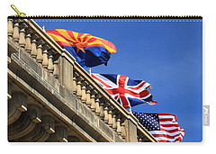 Three Flags At London Bridge Carry-all Pouch by James Eddy