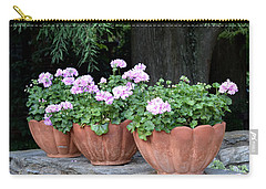 Three Flower Pots Carry-all Pouch by Deborah  Crew-Johnson