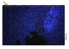 Carry-all Pouch featuring the photograph Three Gossips And The Milky Way - Arches National Park by Gary Whitton
