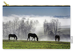 Three Horse Morning Carry-all Pouch