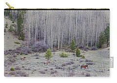 Three Horses Carry-all Pouch by James BO Insogna