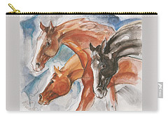 Three Horses Carry-all Pouch by Mary Armstrong