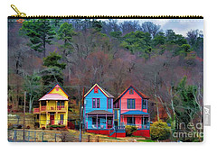Carry-all Pouch featuring the photograph Three Houses Hot Springs Ar by Diana Mary Sharpton