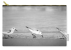 Carry-all Pouch featuring the photograph Three Hungry Little Guys by T Brian Jones