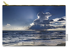 Carry-all Pouch featuring the photograph Three Ibises Before The Storm by Steven Sparks