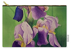 Three Iris Carry-all Pouch