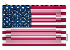 Three Layered Flag Carry-all Pouch by David Bridburg