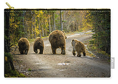Three Little Bears And Mama Carry-all Pouch