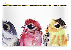 Carry-all Pouch featuring the painting Three Little Birds by Dawn Derman