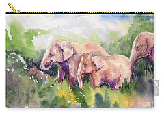 Three Make A Family Carry-all Pouch