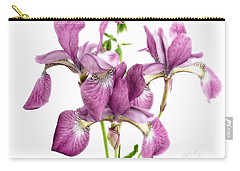 Three Mauve Japanese Irises Carry-all Pouch
