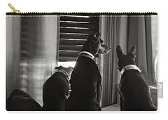 Three Min Pin Dogs Carry-all Pouch