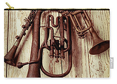 Three Old Horns Carry-all Pouch by Garry Gay