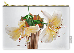 Three Pale Gold Lilies Still Life Carry-all Pouch