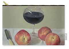Three Peaches, Wine And Knife Carry-all Pouch