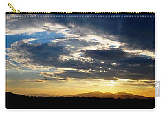 Three Peak Sunset Swirl Skyscape Carry-all Pouch by Matt Harang