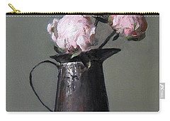 Three Peony Buds In Old Tin Can Carry-all Pouch