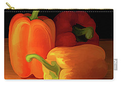 Three Peppers 01 Carry-all Pouch by Wally Hampton