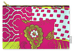 Three Pillows In Magenta Carry-all Pouch