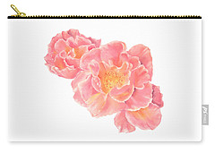 Three Pink Roses Carry-all Pouch
